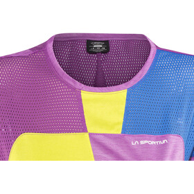 La Sportiva Push Camiseta Mujer, purple/apple green